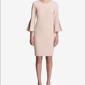 Calvin Klein Blush bell sleeve dress